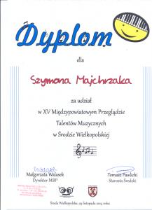 Udział Szkoła Muzyczna effect we Wrześni Sz. Majchrzak 2014